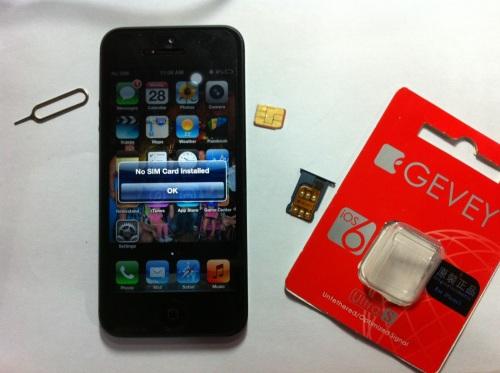 Dùng sim ghép để mở khóa iPhone