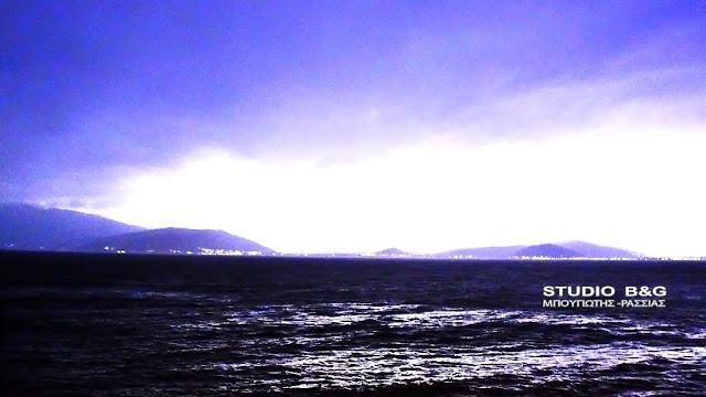 """Η κακοκαιρία """"Φοίβος"""" πάνω από την Αργολίδα με πολύ αέρα και βροχή"""