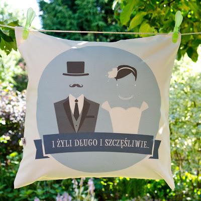poduszka na prezent ślubny