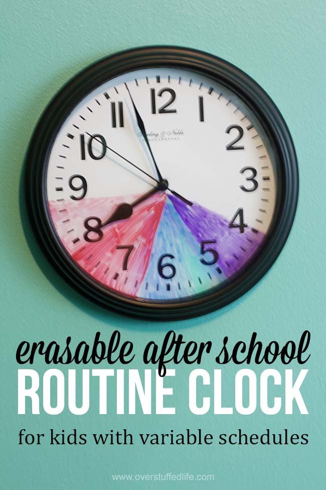 photograph relating to After School Schedule Printable identify Once University Schedule Clock for Small children With Element Schedules