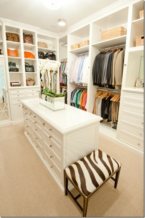 When You Have A Beautiful White Closet You Can Add A Lot Of Creative  Objects That Will Outline Your Interior.