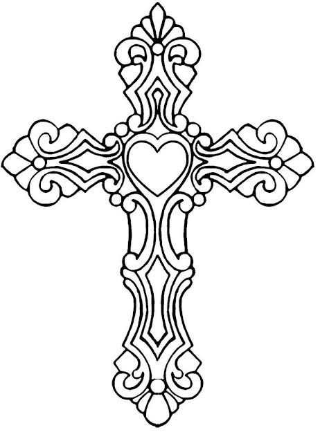 Cross Coloring Pages With Jesus  Coloringstar