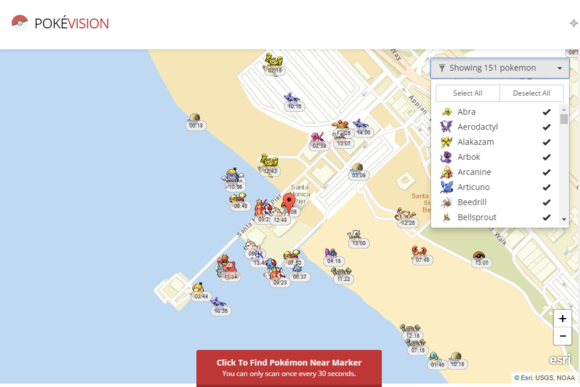 Pokémon Go map grabs directly from servers