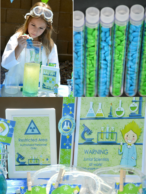 Kids Party Ideas: A Mad Scientist Science Birthday - BirdsParty.com