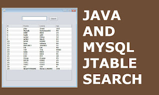 java jtable mysql find