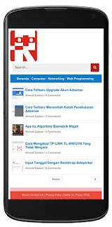 contoh tampilan khusus mobile