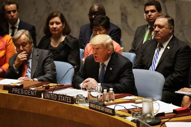 Tổng thống Mỹ Donald Trump phát biểu tại Liên hợp Quốc ngày 26/9
