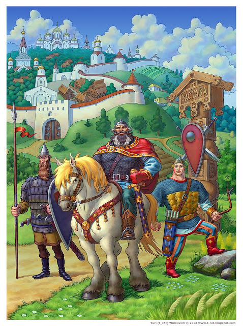 Три богатыря - Иллюстрация - Юрий (t_rAt) Волкович