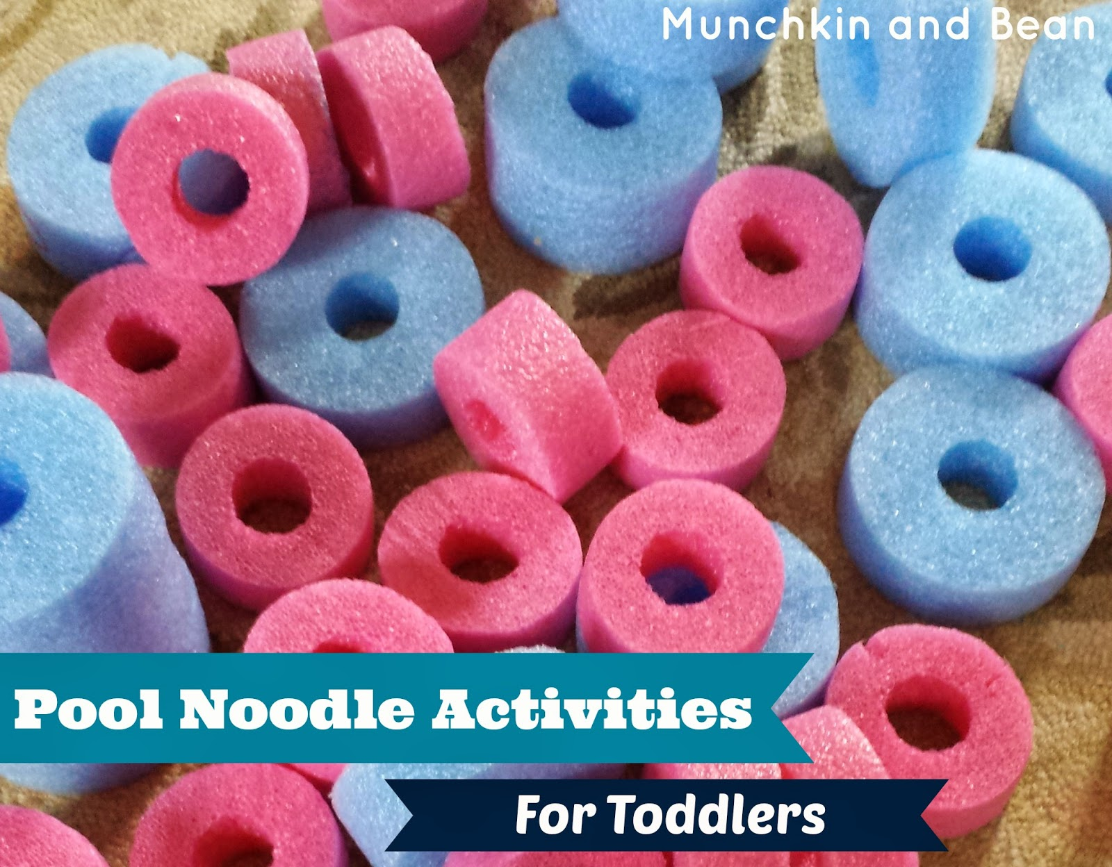Munchkin and Bean Pool Noodle Activities for Toddlers