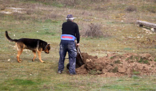 Rambo helping Nikolai with his soil shifting