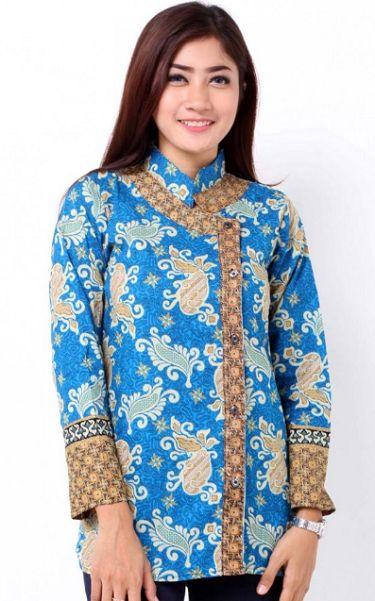20+ Desain Baju Batik Lengan Panjang Modern Wanita Muda ...