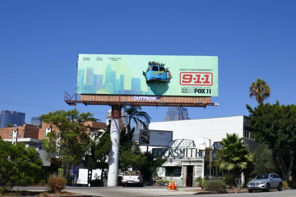 9-1-1 crashed tour bus billboard