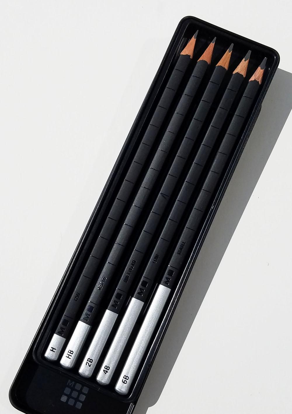 Black Pencils 2 2B and 1 HB Moleskine 3