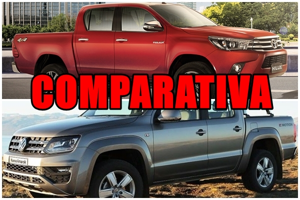 Comparativa: Toyota Hilux vs Volkswagen Amarok
