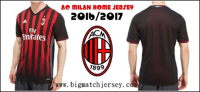 Adidas AC Milan 2016-17 Home Climacool Jersey
