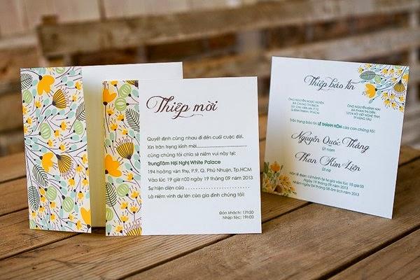 Thiệp cưới đẹp với phong cách Vintage nhẹ nhàng 10