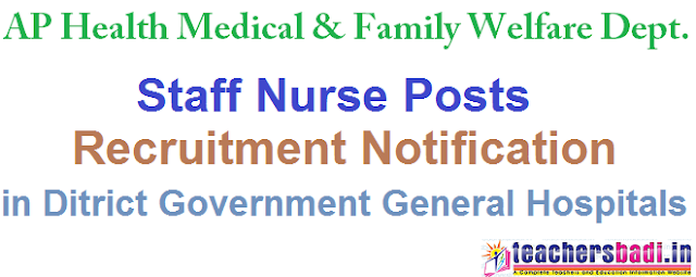 AP Staff Nurses 2016, Recruitment, Guntur Dist.Govt General Hospital