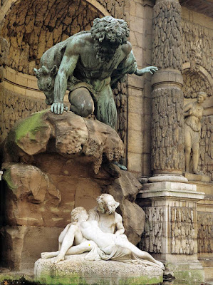 Auguste Ottin - Polyphemus Surprising Acis and Galatea 1852-63, Luxembourg Gardens