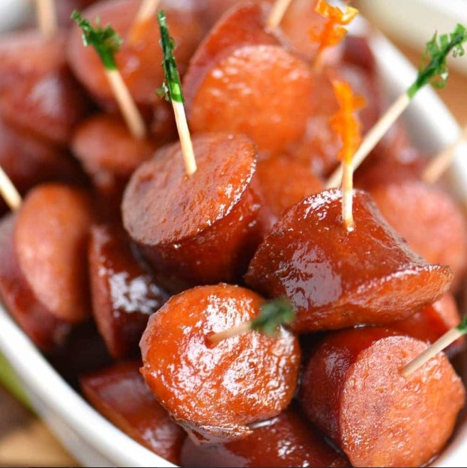 Slow Cooker Kielbasa Bites #fingerfood #appetizers