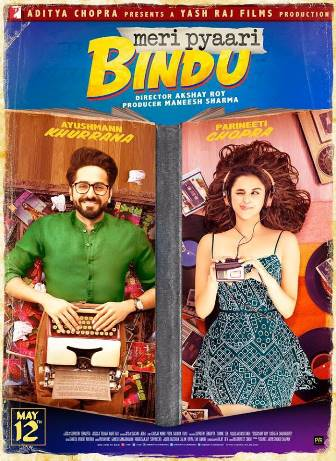 full cast and crew of bollywood movie Meri Pyaari Bindu 2017 wiki, Ayushmann Khurrana, Parineeti Chopra story, release date, Actress name poster, trailer, Photos, Wallapper