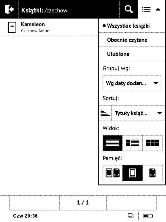 Biblioteka w PocketBook Basic Touch 2 Save & Safe – wyniki wyszukiwania
