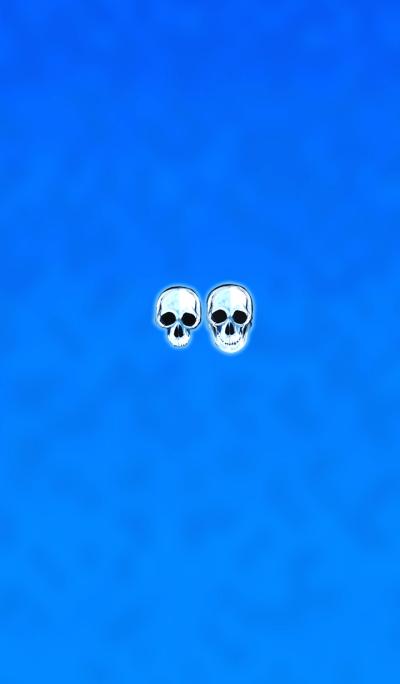 Crystal skull blue2