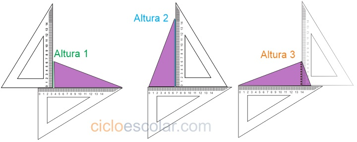 alturas del triángulo desafíos matemáticos quinto grado contestado