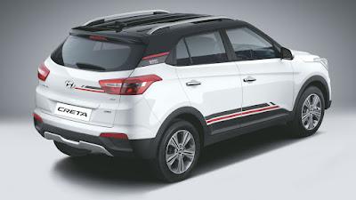 Hyundai Creta 1st Anniversary Edition back view Hd Images