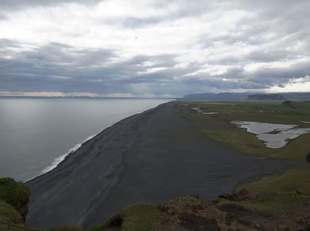 Reynisfjara black sand beach on Dyrhólaey Peninsula along Iceland's South Coast