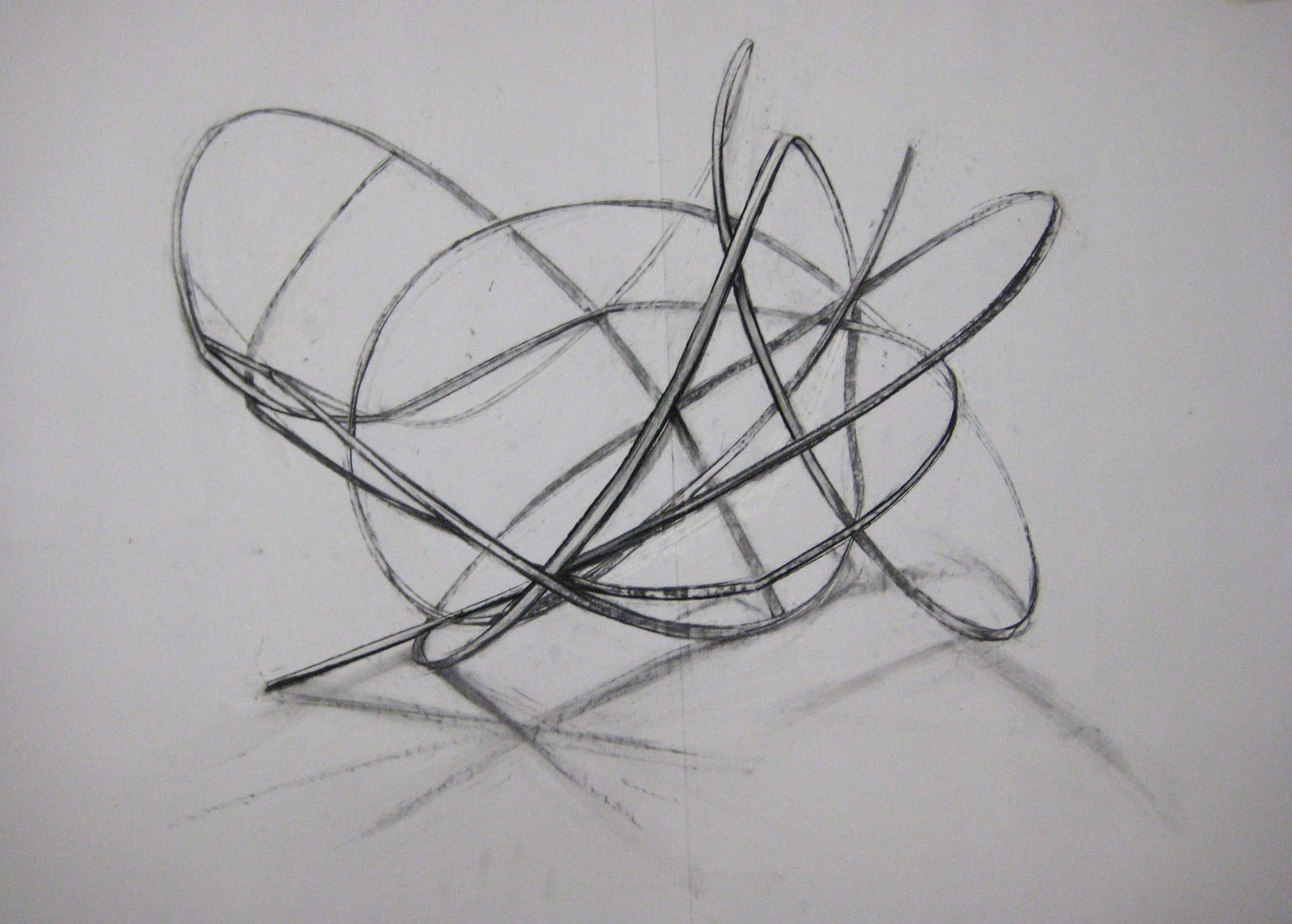 Lynda Duke Charcoal Drawings Of Organic Structures Bamboo