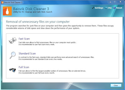 disk cleaner, baisvik disk cleaner, clean disks, remove junk files