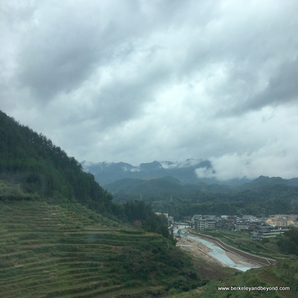 scenery on the way to Wencheng, China