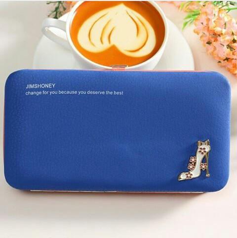 JH Meghan Heels Wallet Blue