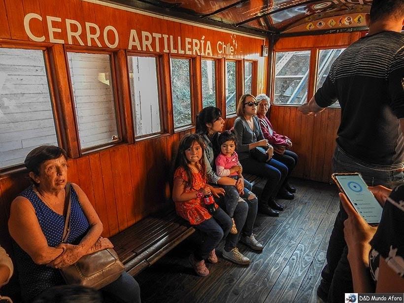 Funicular Artillería em Valparaíso, Chile - O que fazer em Valparaíso em algumas horas