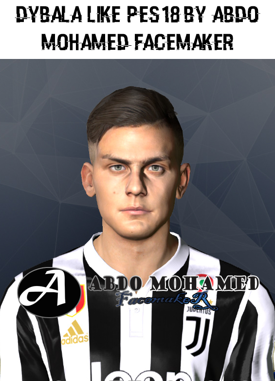 PES 2017 Dybala Face Like PES 18 by Abdo Mohamed Facemaker