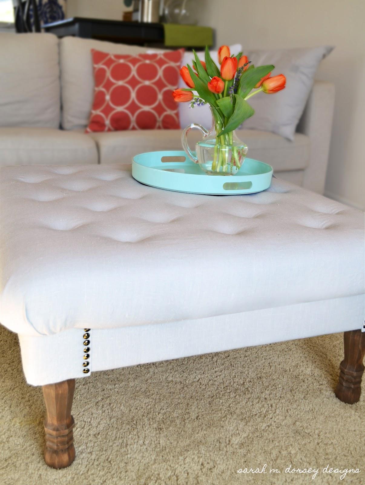 Awe Inspiring Diy Tufted Ottoman Price Breakdown Dorsey Designs Ncnpc Chair Design For Home Ncnpcorg