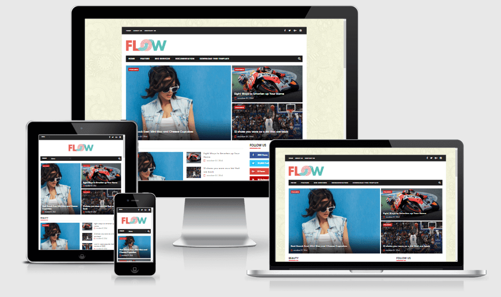 Flow - Responsive Magazine Blogger Template
