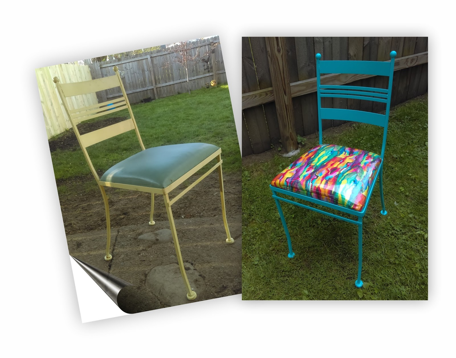 Frecklefacedoodles How To Reupholster Metal Patio Chair