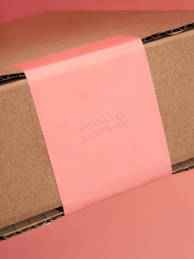 Example of debossing on packaging