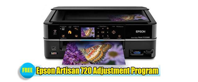Epson Artisan 720 Adjustment Program