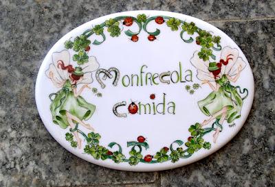 targhetta porcellana dipinta a mano