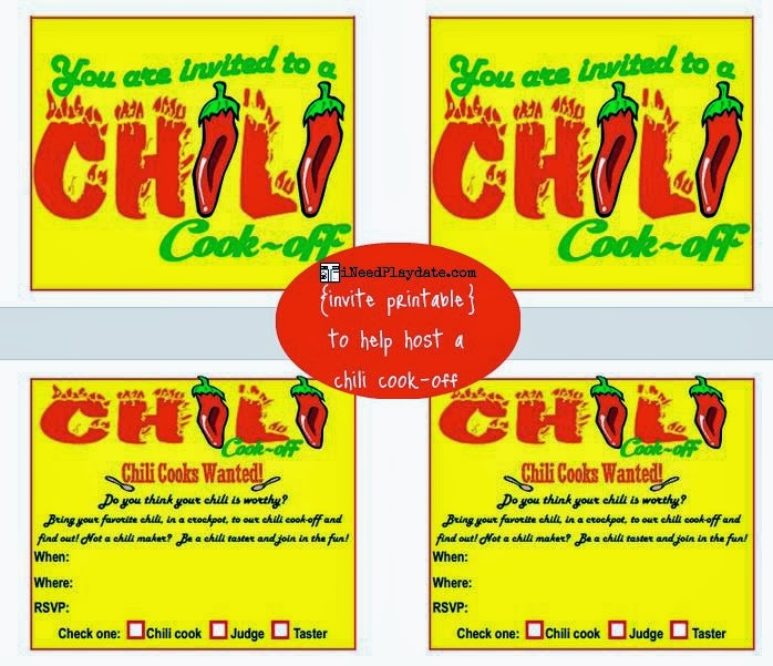 chili cook-off invites