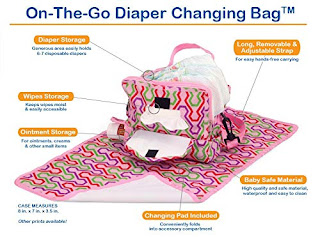 Image: Portable Diaper Changing Station | 3 Compartment Clutch | Diaper, Baby Wipes, and Changing Pad Compartments | Includes Lined, Waterproof Mat, and Shoulder Straps
