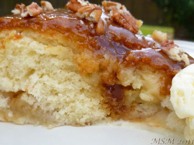 Apple Cake w/ Toffee Topping
