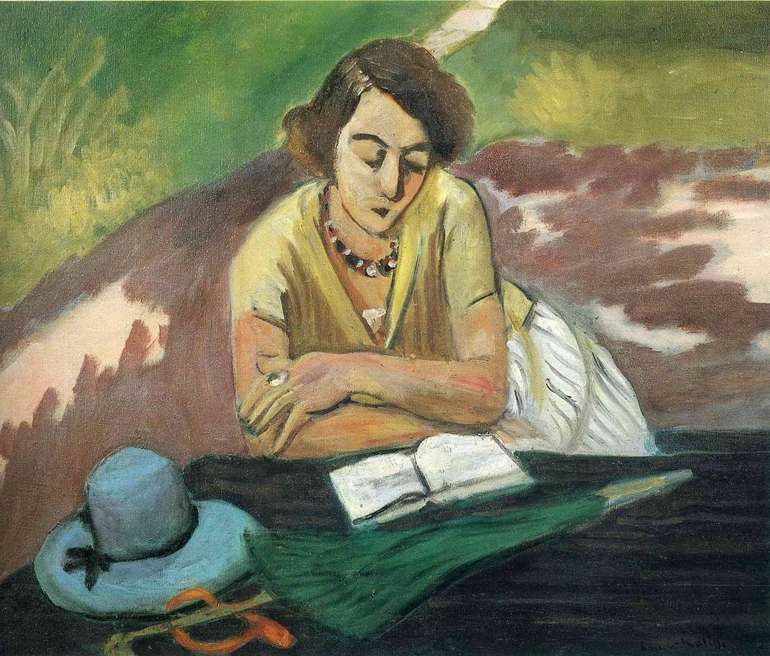 Henri Matisse - Reading Woman with Parasol, 1921