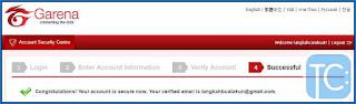 cara verifikasi email pb garen