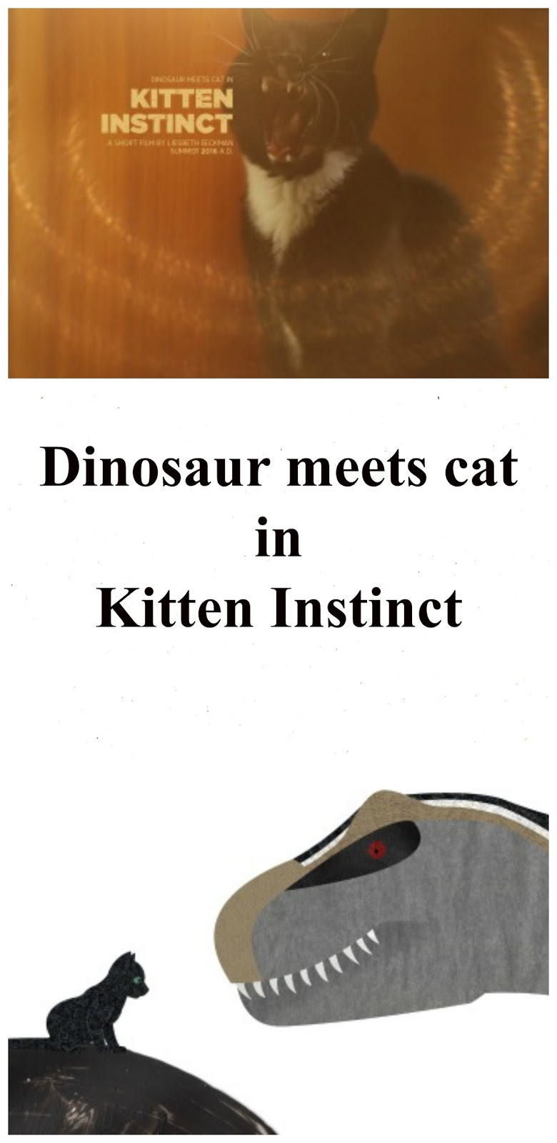 dinosaur meets cat