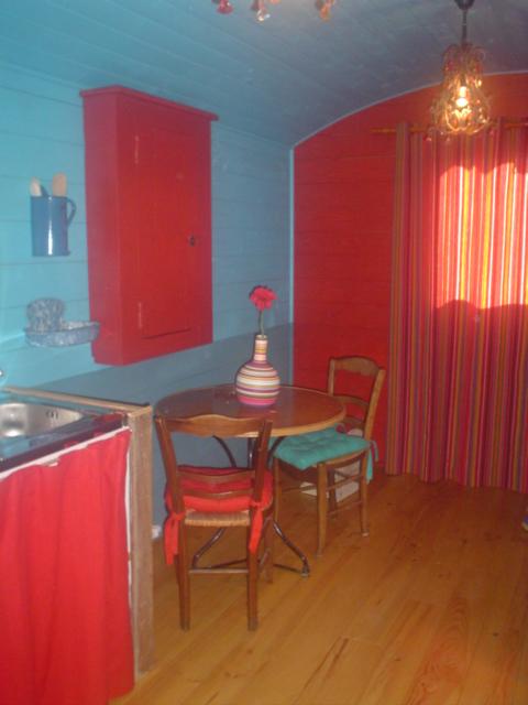 Case su Ruote interno rosa blu
