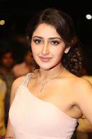 Sayesha Spicy Half Shoulder Cream Gown at Zee Telugu Apsara Awards 2017 02.JPG
