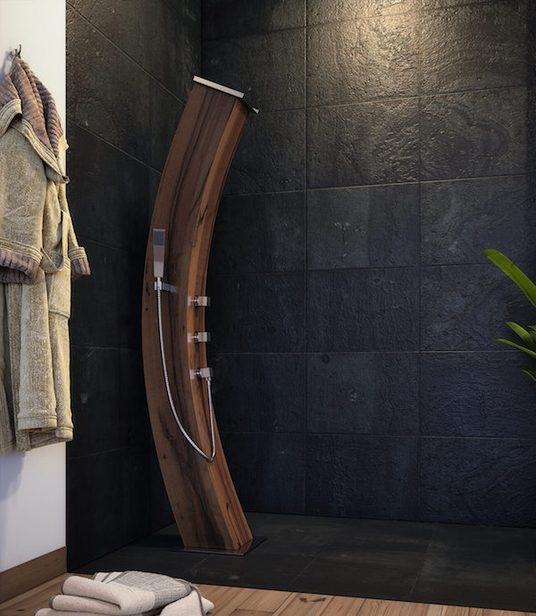some gorgeous wooden showers